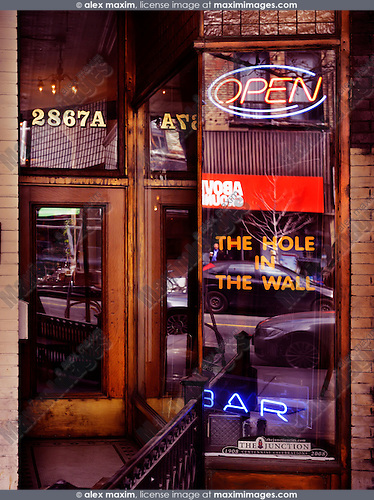 The Hole in The Wall bar at the Junction neighbourhood in Toronto, Canada