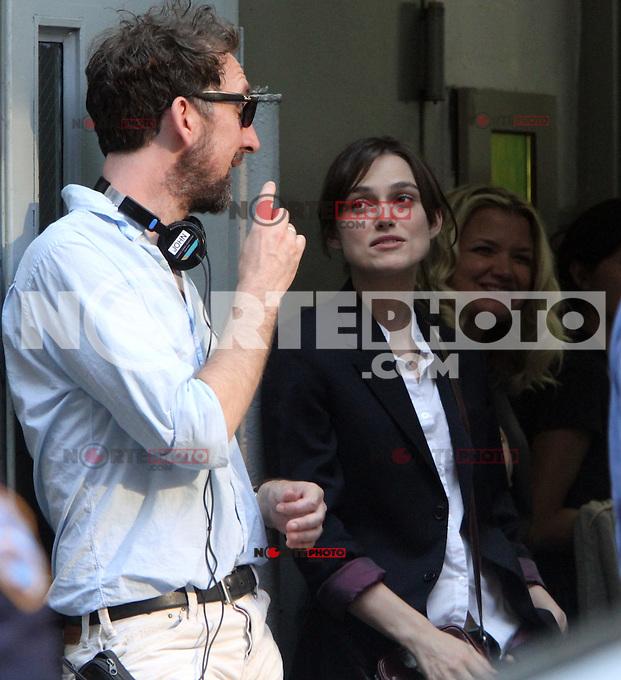 July 12, 2012 Director John Carney and Keira Knightley shooting on location for new VH-1 movie Can a Song Save Your Life? in New York City. &copy; RW/MediaPunch Inc. /*NORTEPHOTO*<br /> **SOLO*VENTA*EN*MEXICO**<br /> **CREDITO*OBLIGATORIO** <br /> **No*Venta*A*Terceros**<br /> **No*Sale*So*third**<br /> *** No*Se*Permite Hacer Archivo**<br /> **No*Sale*So*third**