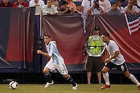Argentina midfielder Maximiliano Rodriguez (7) and United States midfielder Clint Dempsey (8). The men's national teams of the United States and Argentina played to a 0-0 tie during an international friendly at Giants Stadium in East Rutherford, NJ, on June 8, 2008.