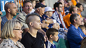 Stephen Bickford, a former UNC soccer team member and openly gay athlete, watches the Carolina Railhawks vs. L.A. Galaxy at Wake Med. Soccer Park in Cary, N.C., Wed., May 29, 2012. The Railhawks defeated the Galaxy 2-0 in the third round of the Lamar Hunt U.S. Open Cup.