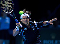 David FERRER (ESP) (5) against Andy MURRAY(GBR) (3) in the Round Robin Stage of the Barclays ATP World Tour Finals. ..ATP World Tour Finals Day 2, 21.11.2011, 21st November, 2011. 02, London. UK..@AMN IMAGES, Frey, Advantage Media Network, Level 1, Barry House, 20-22 Worple Road, London, SW19 4DH.Tel - +44 208 947 0100.email - mfrey@advantagemedianet.com.www.amnimages.photoshelter.com.