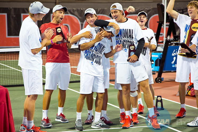 20 MAY 2014:  The University of Oklahoma and University of Southern California during the Division I Men's Tennis Championship held at the Dan Magill Tennis Complex on the University of Georgia campus in Athens, GA.  USC defeated Oklanhoma 7-2 to win the national title.  Matt Marriott/NCAA Photos