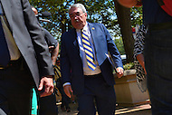 Washington, DC - September 22, 2016: U.S. Rep. G. K. Butterfield, Chairman of the Congressional Black Caucus, walks to a meeting with U.S. Attorney General  Loretta Lynch hold a news conference in front of the Department of Justice headquarters in the District of Columbia, September 22, 2016, to address the shooting and profiling of African Americans by law enforcement members. The CBC presented Attorney General Lynch with a letter outlining its concerns.  (Photo by Ryan Ketterling/Media Images International)