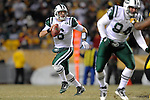 PITTSBURGH, PA - JANUARY 23: Mark Sanchez #6 of the New York Jets scrambles against the Pittsburgh Steelers in the AFC Championship Playoff Game at Heinz Field on January 23, 2011 in Pittsburgh, Pennsylvania. The Steelers defeated the Jets 24 to 19.(Photo by: Rob Tringali) *** Local Caption *** Mark Sanchez