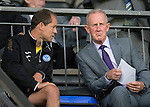 St Johnstone v Hearts...04.08.13 SPFL<br /> Billy Stark talks with Alec Cleland<br /> Picture by Graeme Hart.<br /> Copyright Perthshire Picture Agency<br /> Tel: 01738 623350  Mobile: 07990 594431