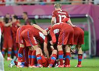 FUSSBALL  EUROPAMEISTERSCHAFT 2012   VORRUNDE Tschechien - Polen               16.06.2012 1:0 Jubel der tschechischen Nationalmannscht