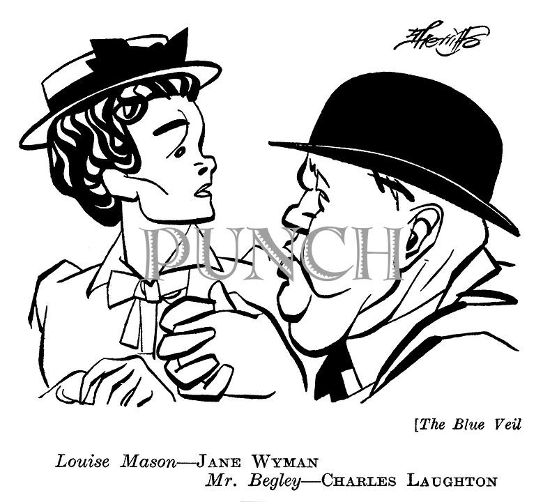 The Blue Veil : Jane Wyman and Charles Laughton..