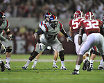 Ole Miss offensive lineman A.J. Hawkins (76) vs. Alabama at Bryant-Denny Stadium in Tuscaloosa, Ala. on Saturday, September 29, 2012. Alabama won 33-14. Ole Miss falls to 3-2.