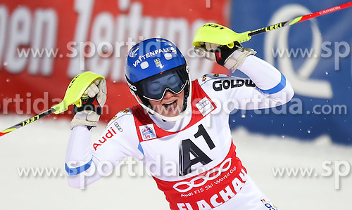 13.01.2015, Hermann Maier Weltcupstrecke, Flachau, AUT, FIS Weltcup Ski Alpin, Flachau, Slalom, Damen, 2. Lauf, im Bild Frida Hansdotter (SWE, 1. Platz) // Winner Frida Hansdotter of Sweden celebrate after her 2nd run of the ladie's Slalom of the FIS Ski Alpine World Cup at the Hermann Maier Weltcupstrecke in Flachau, Austria on 2015/01/13. EXPA Pictures © 2015, PhotoCredit: EXPA/ JOHANN GRODER