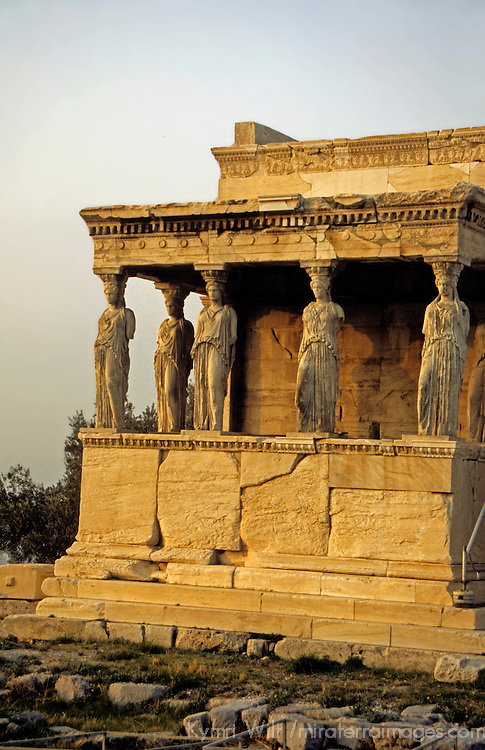 Europe, Greece, Athens. The Erechtheum building of the Acropolis in Athens, c. 430-460 BC.