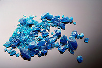 CUPRIC SULFATE PENTAHYDRATE CRYSTALS<br /> CuSO4*5H2O (Copper II Sulfate)<br /> Large transparent blue triclinic crystal, &quot;Bluestone&quot;.