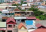 Phnom Penh roof across the skyline