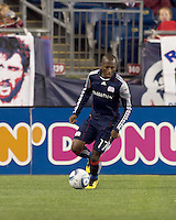 New England Revolution midfielder Sainey Nyassi (17). The New England Revolution defeated Kansas City Wizards, 1-0, at Gillette Stadium on October 16, 2010.