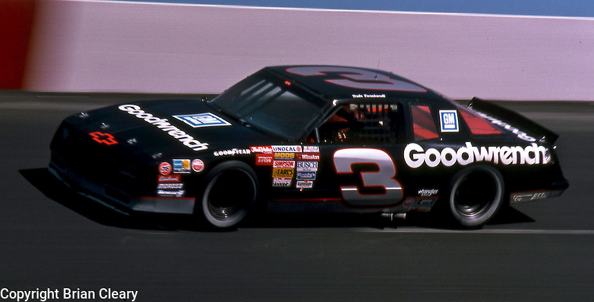 Dale Earnhardt competes in the Transouth 500 at Darlington Raceway in Darlington, SC on March 20, 1988. (Photo by Brian Cleary/www.bcpix.com)