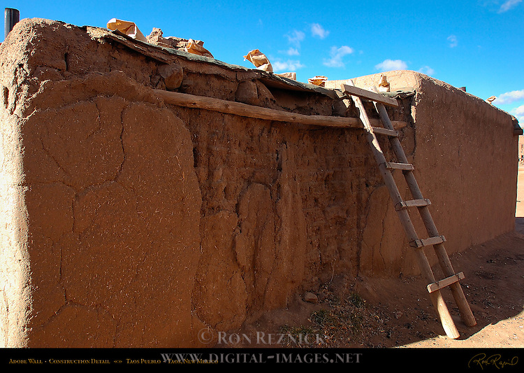 Adobe Wall Construction, Northern Tiwa Indian, Taos Pueblo, Taos, New Mexico