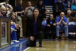 01 March 2015: Duke head coach Joanne P. McCallie. The Duke University Blue Devils hosted the University of North Carolina Tar Heels at Cameron Indoor Stadium in Durham, North Carolina in a 2014-15 NCAA Division I Women's Basketball game. Duke won the game 81-80.
