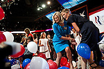 The Romney family at the 2012 Republican National Convention in Tampa, Florida, August 30, 2012.