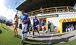 Lee McCulloch leads the Rangers team out into action at Mosset Park, Forres