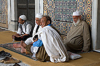 Tripoli, Libya - Old Men Talking, Karamanli Mosque, 18th Century