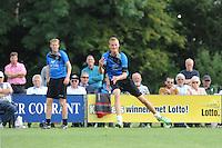 KAATSEN: PINGJUM: 07-09-2014, Gert-Anne van der Bos, Jacob Wassenaar en Daniël Iseger winnen in Pingjum, Tjisse Steenstra aan de opslag, ©foto Martin de Jong