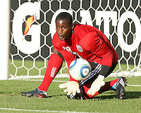 Bill Hamid #28 of D.C.United made his first start for the club during an MLS match against the Kansas City Wizards at RFK Stadium on May 5 2010, in Washington DC. United won 2-1