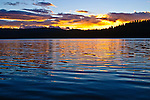 Sunrise on Gold Lake, Sierra County, Northern California.