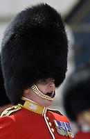 Guardsman shouting commands London, UK