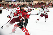 Devin Tringale (Harvard - 22) - The Harvard University Crimson defeated the visiting Rensselaer Polytechnic Institute Engineers 5-2 in game 1 of their ECAC quarterfinal series on Friday, March 11, 2016, at Bright-Landry Hockey Center in Boston, Massachusetts.