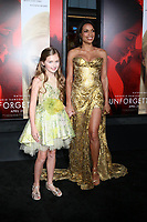 HOLLYWOOD, CA - APRIL 18: Isabella Kai Rice, Rosario Dawson at the premiere of 'Unforgettable' at the TCL Chinese Theatre on April 18, 2017 in Hollywood, California. <br /> CAP/MPI/DE<br /> &copy;DE/MPI/Capital Pictures