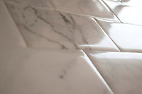Giovanni Barbieri Marmo Antico Lucido in Calacatta marble, Polished, straight edges 3 x 6 inch.<br />