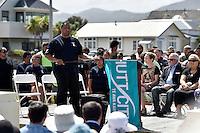 Kura Moeahu, Petone Settlers 175th Anniversary on the Petone Foreshore, Lower Hutt, New Zealand on Sunday 19 January 2015. <br /> Photo by Masanori Udagawa.<br /> www.photowellington.photoshelter.com.
