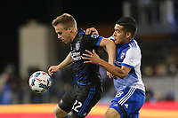 San Jose, CA - Friday April 14, 2017: Tommy Thompson, Victor Ulloa  during a Major League Soccer (MLS) match between the San Jose Earthquakes and FC Dallas at Avaya Stadium.