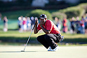 Tiger Woods (USA),.MARCH 25, 2012 - Golf :.Tiger Woods of United States lines up during the final round of the Arnold Palmer Invitational at Arnold Palmer's Bay Hill Club and Lodge in Orlando, Florida. (Photo by Thomas Anderson/AFLO)(JAPANESE NEWSPAPER OUT)