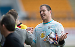 St Johnstone v Partick Thistle&hellip;29.10.16..  McDiarmid Park   SPFL<br />All smiles fro debut keeper Thorston Stuckmann<br />Picture by Graeme Hart.<br />Copyright Perthshire Picture Agency<br />Tel: 01738 623350  Mobile: 07990 594431