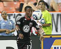 Boyzzz Khumalo #17 of D.C.United during an MLS match against the Kansas City Wizards at RFK Stadium on May 5 2010, in Washington DC. United won 2-1