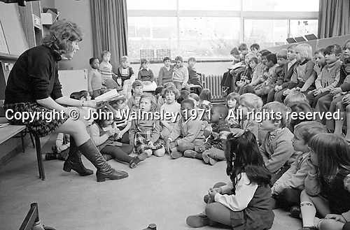 Storytime, Julian's Primary School, Streatham, London.  1971.