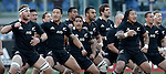 "Rugby: test match Italia vs Nuova Zelanda. Roma, stadio Olimpico, 17 novembre 2012..New Zealand players perform the Maori's ""Haka"" dance prior to the start of an international rugby test match between Italy and New Zealand at Rome's Olympic stadium, 17 November 2012..UPDATE IMAGES PRESS/Riccardo De Luca"