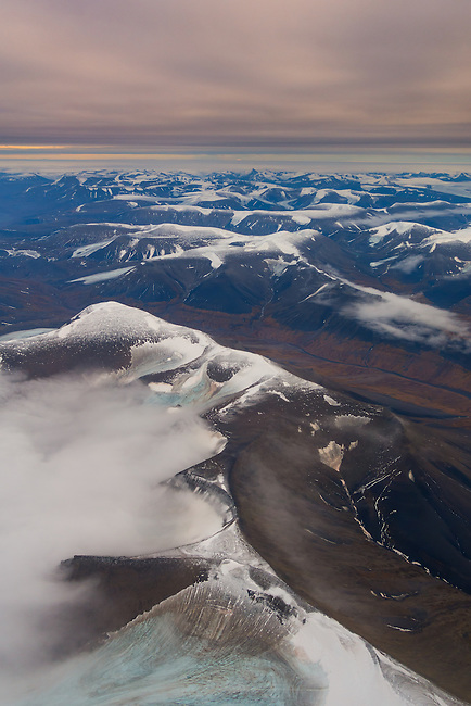 """This arctic land"" - Hard to leave. So easy to be captivated by. Home of the polar bear. See you soon again Svalbard. Coles-valley, Karl Bay-mountain and Nordenskiold Land in the frame. Shot from the air."