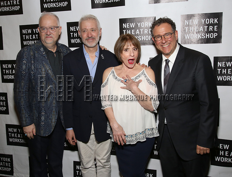 Doug Wright, Scott Frankel, Patti LuPone and Michael Greif attend New York Theatre Workshop's 2017 Spring Gala at the Edison Ballroom on May 15, 2017 in New York City.