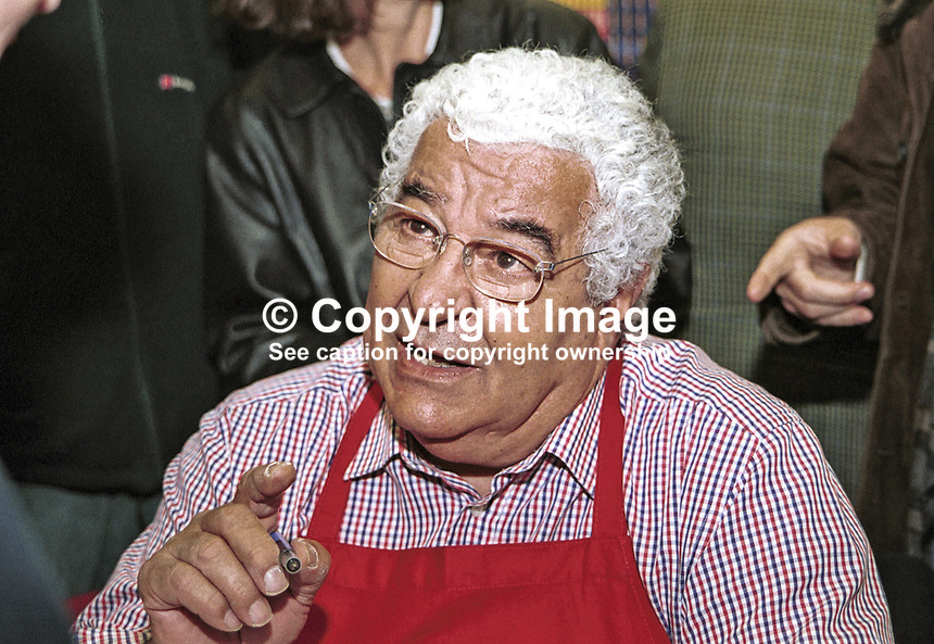 Antonio Carluccio, British TV chef and author. Taken at or during Hay Festival. Ref: 200005265.<br /> <br /> Copyright Image from Victor Patterson,<br /> 54 Dorchester Park, Belfast, UK, BT9 6RJ<br /> <br /> t1: +44 28 90661296<br /> t2: +44 28 90022446<br /> m: +44 7802 353836<br /> <br /> e1: victorpatterson@me.com<br /> e2: victorpatterson@gmail.com<br /> <br /> For my Terms and Conditions of Use go to<br /> www.victorpatterson.com
