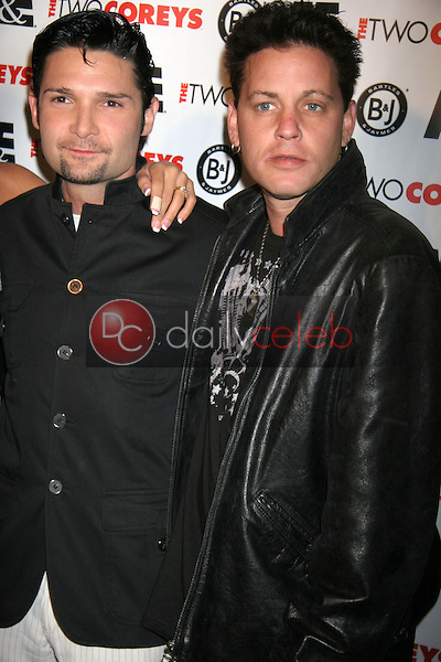 Corey Feldman and Corey Haim<br />at the A and E Premiere of &quot;The Two Corey's&quot;. Sugar, Hollywood, CA. 07-27-07<br />Dave Edwards/DailyCeleb.com 818-249-4998