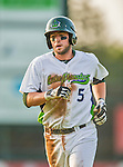 8 July 2015: Vermont Lake Monsters infielder Mikey White in action against the Mahoning Valley Scrappers at Centennial Field in Burlington, Vermont. The Lake Monsters defeated the Scrappers 9-4 to open the home game series of NY Penn League action. Mandatory Credit: Ed Wolfstein Photo *** RAW Image File Available ****