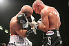 Jamie Moore vs Ryan Rhodes. Ryan Rhodes win in the 7th round. For the light middleweight European title - Bolton Arena, Bolton, Lancashire, United Kingdom - 2009-10-23