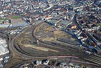 Altona Bahnhof und Bahnflaeche zur Bebauung: EUROPA, DEUTSCHLAND, HAMBURG, (EUROPE, GERMANY), 08.02.2015: Noerdlich des Bahnhof Hamburg-Altona erstreckt sich ein circa 30 Hektar grosses Gelaende welches neu bebaut werden soll. Flaeche fur den wohnungsbau mitten in der Stadt.