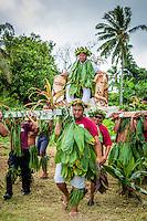 Coronation procession, Makirau Haurua Teurukura Ariki Investiture, Aitutaki Island, Cook Islands.
