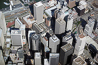 aerial photograph skyscraper rooftops San Francisco
