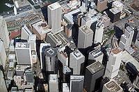 aerial photograph skyscraper rooftops San Francisco