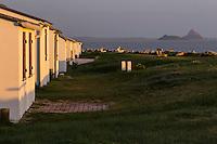 Europe/France/Normandie/Basse-Normandie/50/Baie du Mont-Saint-Michel/Saint-Jean-le-Thomas: Site des Cabines, Les cabines de plage //  France, Manche, Mont Saint Michel bay, Saint-Jean-le-Thomas: Beach huts