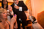 Uggie the dog attends the Bloomberg Vanity Fair White House Correspondents' Association dinner afterparty at the residence of the French Ambassador on Saturday, April 28, 2012 in Washington, DC. Brendan Hoffman for the New York Times
