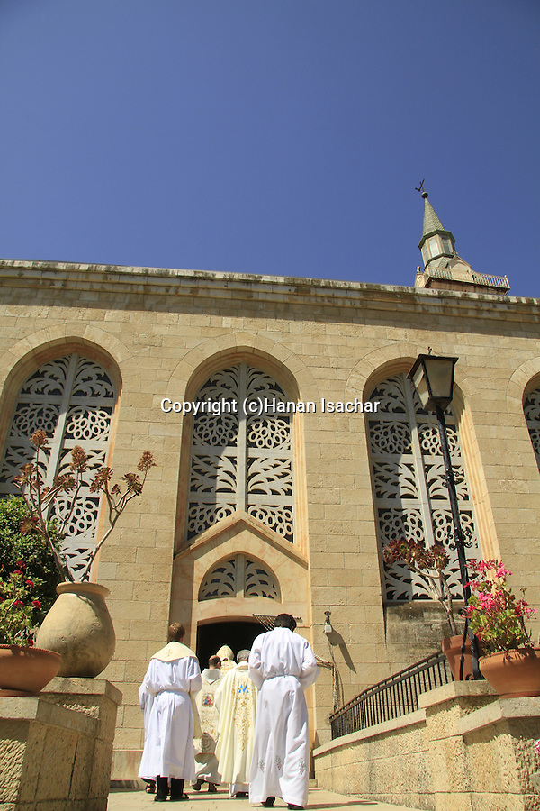Israel, Jerusalem, Visitation Day ceremony at the Church of the Visitation in Ein Karem